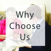 why choose us senior solutions website buttons